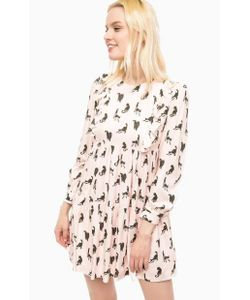 Paul & Joe Sister | Розовое Платье С Ярусной Юбкой