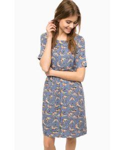 ICHI | Синее Платье Средней Длины С Застежкой На Спине