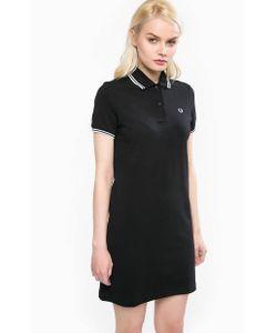 Fred Perry | Короткое Черное Платье Из Хлопка