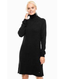 Pepe Jeans London | Черное Платье С Высоким Воротом
