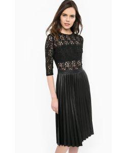 Guess | Черное Платье С Кружевным Верхом