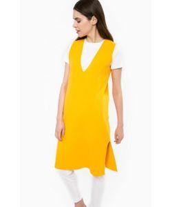 Stefanel | Однотонное Платье Из Вискозы С Разрезом