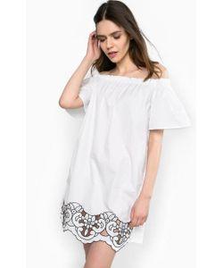 Pinko | Платье Из Хлопка С Вышивкой