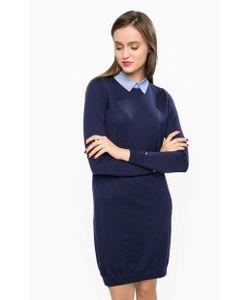 Tommy Hilfiger | Платье Из Шерсти С Отложным Воротником