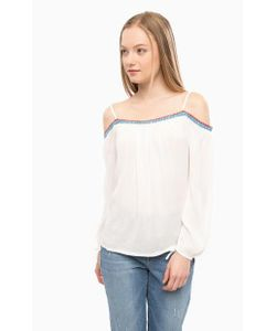 Mavi | Блуза Из Вискозы С Контрастной Нашивкой