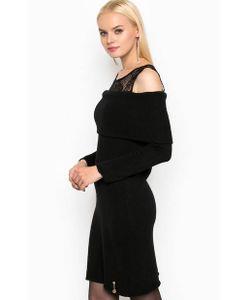 Relish | Черное Платье С Кружевной Кокеткой