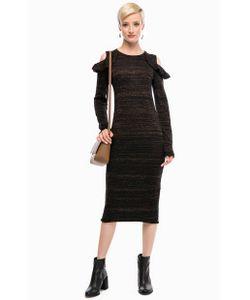 Liu •Jo | Черное Трикотажное Платье С Длинными Рукавами