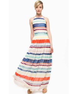 Tommy Hilfiger | Длинное Платье В Разноцветную Полоску