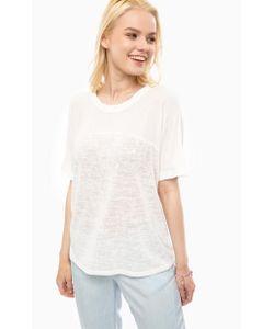 Vero Moda   Блуза С Трикотажной Вставкой