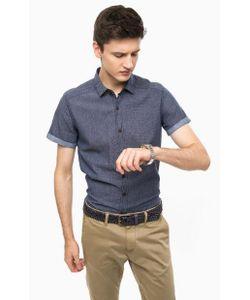 Mavi | Синяя Рубашка С Отворотами На Рукавах