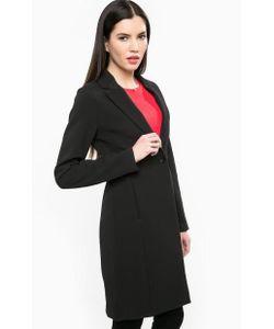 Guess | Черное Приталенное Пальто На Пуговице