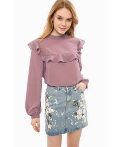 Glamorous | Блуза Сиреневого Цвета С Длинными Рукавами