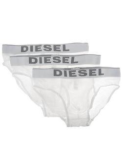 Diesel | Комплект Из Трех Белых Трусов-Брифов Из Хлопка