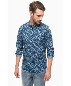 Pepe Jeans | Синяя Рубашка С Цветочным Принтом