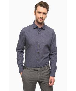 Cinque | Синяя Хлопковая Рубашка С Длинными Рукавами
