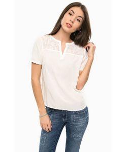TOM TAILOR | Блуза Из Вискозы С Вышивкой На Кокетке