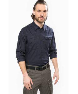 G-Star | Синяя Хлопковая Рубашка С Длинными Рукавами