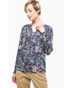 s.Oliver | Синяя Блуза Из Вискозы С Цветочным Принтом