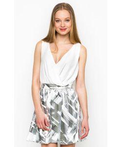 Relish | Короткое Платье С Серебристой Юбкой