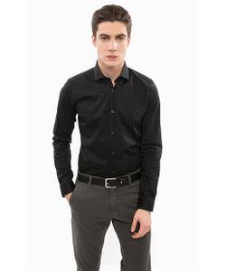Liu Jo Uomo   Приталенная Черная Рубашка Из Хлопка