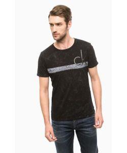 Calvin Klein Jeans | Черная Хлопковая Футболка С Принтом