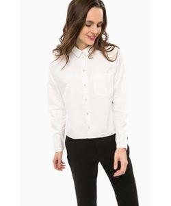 Only | Хлопковая Рубашка Оверсайз Белого Цвета
