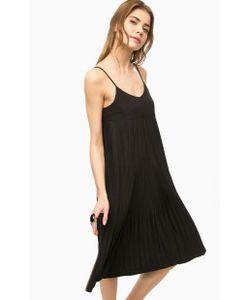 ICHI | Черное Платье В Складку На Бретелях