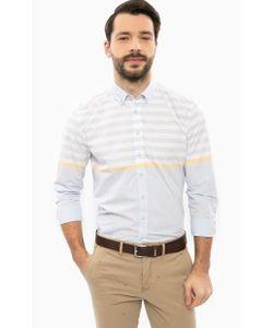 U.S. Polo Assn. | Голубая Хлопковая Рубашка В Полоску