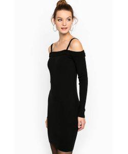 Mexx | Черное Короткое Платье Из Вискозы