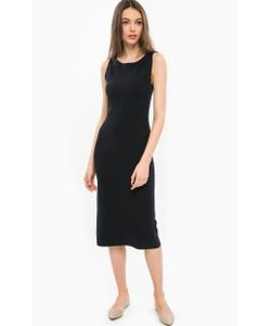 Stefanel | Платье Из Вискозы С Разрезом Сзади