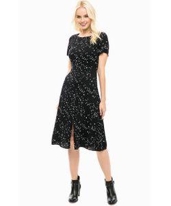 Sugarhill Boutique | Черное Платье Из Вискозы С Разрезом