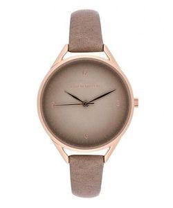 Karen Millen   Часы Из Нержавеющей Стали С Кожаным Ремешком