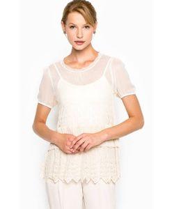 Stefanel | Блуза Из Вискозы С Шелковыми Рукавами