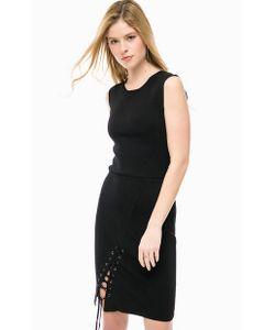 Silvian Heach | Черное Трикотажное Платье Без Рукавов