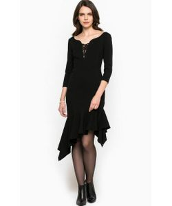 Miss Sixty | Черное Платье С Кружевными Вставками