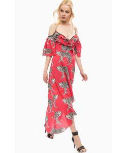 Fornarina | Длинное Красное Платье На Бретелях