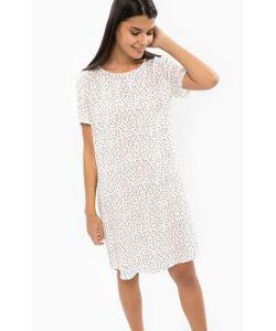 b.young | Платье-Рубашка Белого Цвета В Горошек