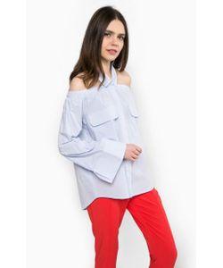 Pinko | Блуза Из Хлопка В Полоску С Широкими Рукавами