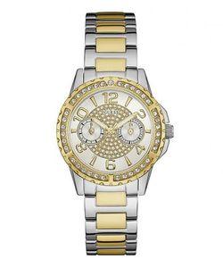 Guess | Часы Круглой Формы С Отделкой Кристаллами