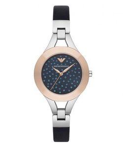 Emporio Armani | Часы С Кожаным Ремешком И Декором Из Кристаллов