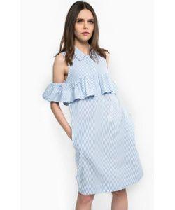 Pinko   Платье Из Хлопка В Полоску Прямого Кроя