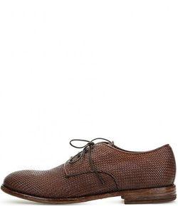 Moma | Кожаные Туфли На Шнуровке