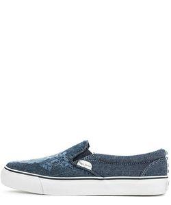 Pepe Jeans | Джинсовые Слипоны С Цветочной Вышивкой