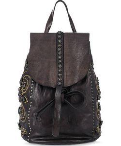 Campomaggi | Кожаный Рюкзак С Декором И Откидным Клапаном