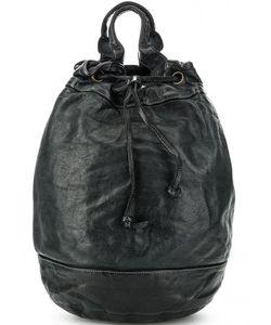 Bruno Rossi | Вместительный Кожаный Рюкзак С Текстильными Лямками