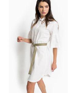 Pinko | Платье-Рубашка Из Хлопка С Расклешенными Рукавами