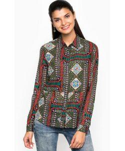 Desigual | Приталенная Разноцветная Рубашка