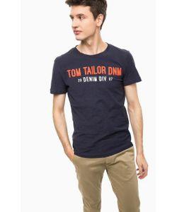 Tom Tailor Denim | Синяя Футболка С Контрастным Принтом