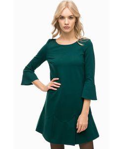 Twin-Set Simona Barbieri | Зеленое Платье Расклешенного Кроя
