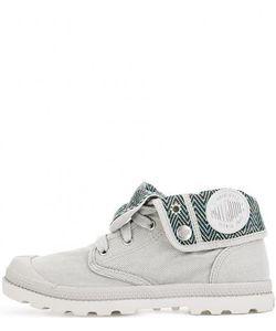 Palladium | Серые Текстильные Ботинки С Нашивками